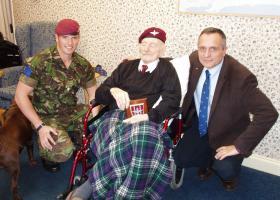 Past and Present: Lt Max Shackleton with Major John Timothy MC, September 2011