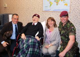 Group photograph with Major John Timothy MC after presentation by Lt Max Shackleton, 2011