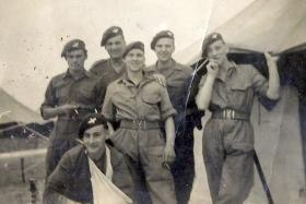 Members of B Company, the 2nd Parachute Battalion, Palestine, 1946.
