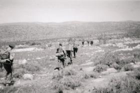 On foot patrol in Palestine, c1947-8.