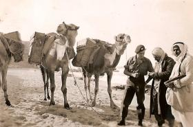 James Macaskill negotiating with an Arab, Palestine