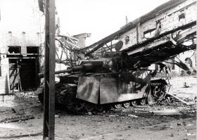 A German Pzkpfw IV Knocked Out by Arnhem Bridge, 1944