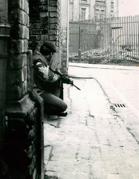 Para on street patrol in Northern Ireland, date Unknown.