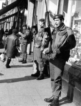 Members of 2 PARA on Shankhill Road 1970