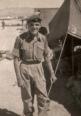 Private Alan Bridson, Amman, Jordan, 1958