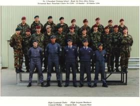 Group photo of Parachute Course at No.1 Parachute Training School, October 1996