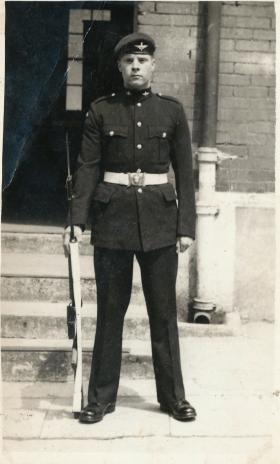 Pte Bruce Cheesman in Number 1 Dress Uniform, 1950s