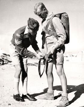 Parachute training, RAF Kabrit, 1942