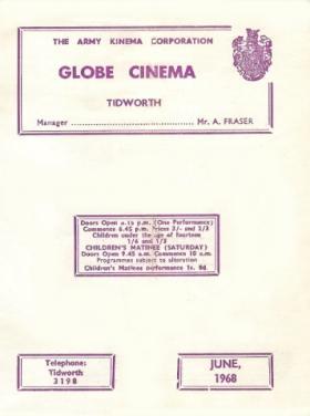 Tidworth AKC Globe Cinema Programme