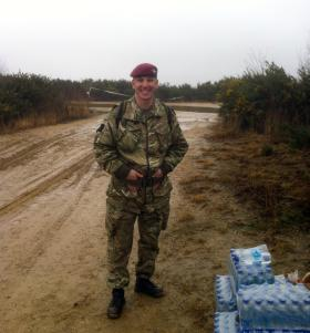 Sgt 'Billy' Connolly, PARAs 10, Aldershot Training Area, March 2013.