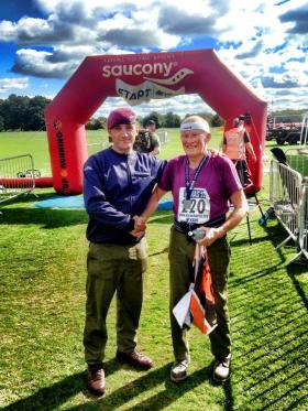 Mike Doyle at the finish of the PARAS'10, 2014.