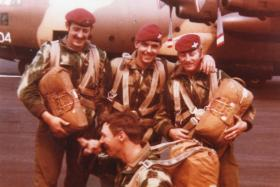 Paras from 16 (Lincoln) Independent Coy emplaning at Newcastle Airport, c.1976-7