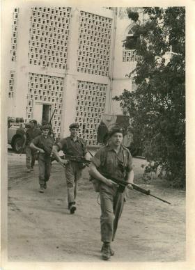 1 PARA, D Company leaving Fort Walsh on foot patrol, Aden, 1967