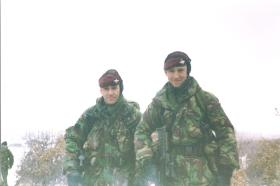 Paras on patrol near Podujevo, Kosovo