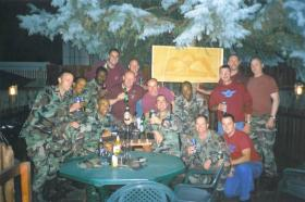 Paras pose for a group photo on Multi National Airborne Forces Day, Bosnia
