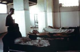 Paras take a break at 'Fort Walsh', Aden, 1967