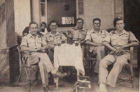Paras take a break from service in Palestine, 1946