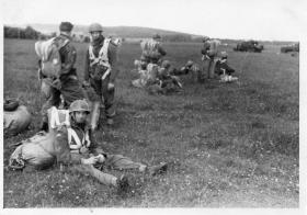 A Coy 1 PARA Hildersheim BAOR circa 1948 Pte Mathews in foreground