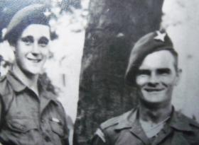 Paratroopers pose for a photo, c.1945-6