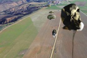 3 PARA parachuting onto the Plain, Ex Iberian Eagle, December 2012.