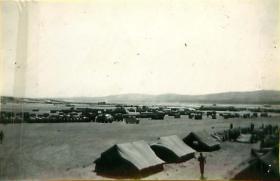 The 3 PARA tented camp at Amman, Jordan, 1958