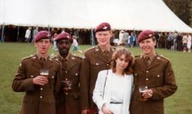 Members of 4 Coy, 10 PARA, Presentation of New Colours in June 1983.