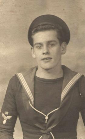 Patrick McNeilly Royal Navy prior to joining Australian Army, c1950.