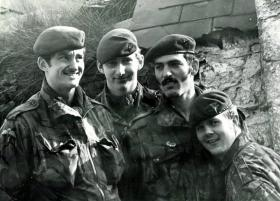 Four members of 1 PARA, Northern Ireland, 1980s.