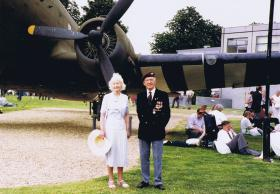 Paul Aller with his wife Joan by the Dakota, Airborne Forces Museum
