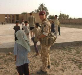 Cpl Paul Davis in Iraq, 2003