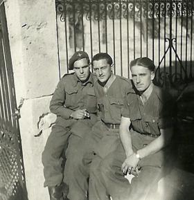 Three members of 4th Parachute Battalion, Greece, November 1944.