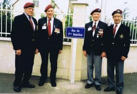 Street in Benouville renamed for 7th (LI) Parachute Battalion, June 2000