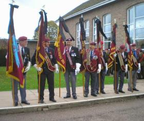 PRA Standard Bearers at the funeral service of Maj John Timothy, 3 November 2011