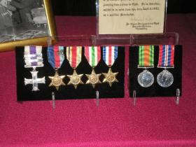 Major Timothy's medals displayed at the wake, 3 November 2011