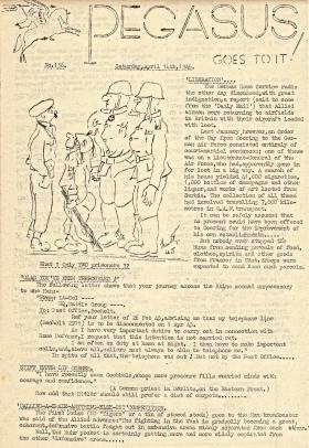 Pegasus Goes To It! No 136, 14 April 1945.
