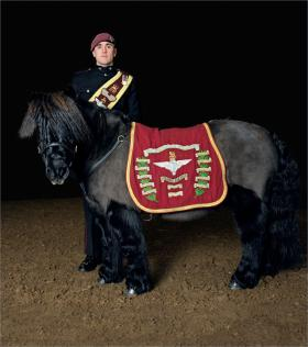 Pony Major L/Cpl Adam Martin with Pegasus IV from an article in Country Life Magazine, 2015.