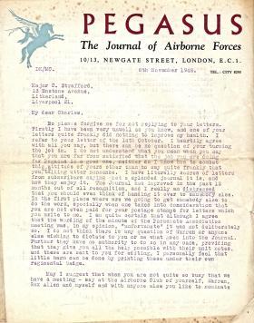 Letter to Charles Strafford 8 November 1948