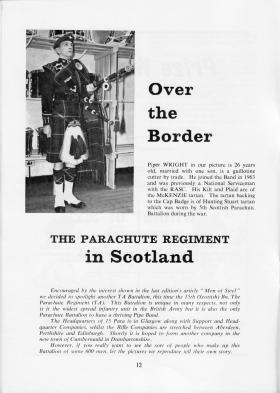 The Parachute Regiment in Scotland