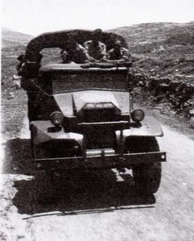 A 17th Para Bn truck travelling to Jerusalem, 1946.