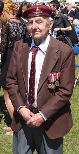 Percy Lemon at 70th D-Day Anniversary, Portsmouth 2014.
