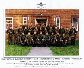 Permanent Staff, Infantry Training Centre, Catterick, December 1995.