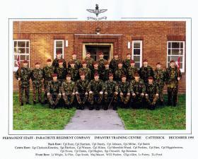 Permanent Staff, Infantry Training Centre, Catterick, December 1995.
