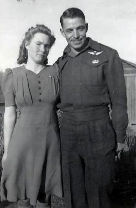 Peter Modderman and his wife Sarah Beth (nee Olsen) in Canada, date unknown.