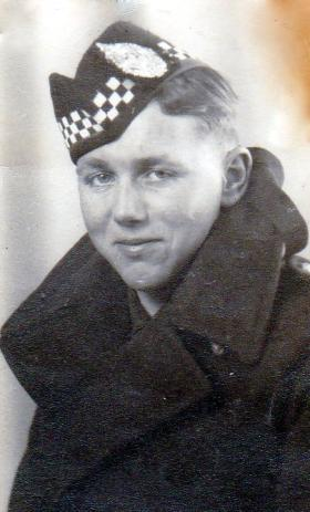 Peter Malone, 7th Battalion of The Argyll and Sutherland Higlanders, date unknown.