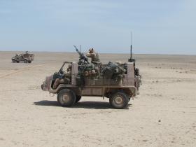 Pathfinder Pinzgauer vehicle, Nowzad, Afghanistan, Op Herrick IV, 2006.