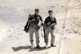 On patrol M Seamark & Brabrook, 6 Pln, 3 PARA, Jordan, 1958.