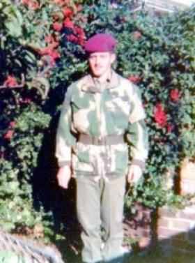 Cfn Bates, Parachute Squadron RAC, 1974.