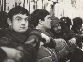 Members of 2 PARA waiting to drop on Fassberg West Germany 1979