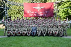 His Royal Highness The Prince of Wales visits The Parachute Regiment Depot, 10 September 2015.