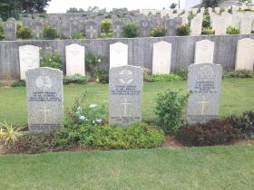 Sgt McNeilly's headstone, Kranji Military Cemetery, Singapore, 2012.